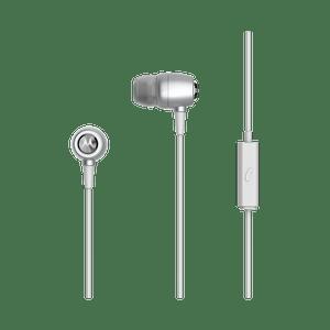 metal earbuds zilver
