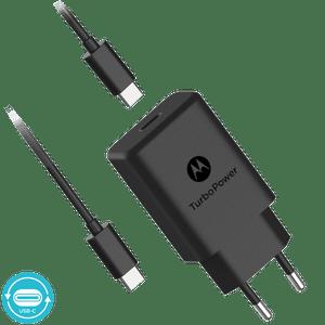 Motorola TurboPower ™ 27 wandoplader met USB-C naar USB-C datakabel