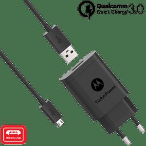 Motorola TurboPower ™ 18-wandoplader met micro-USB-gegevenskabel