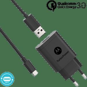 Motorola TurboPower ™ 18-wandoplader met USB-C-gegevenskabel
